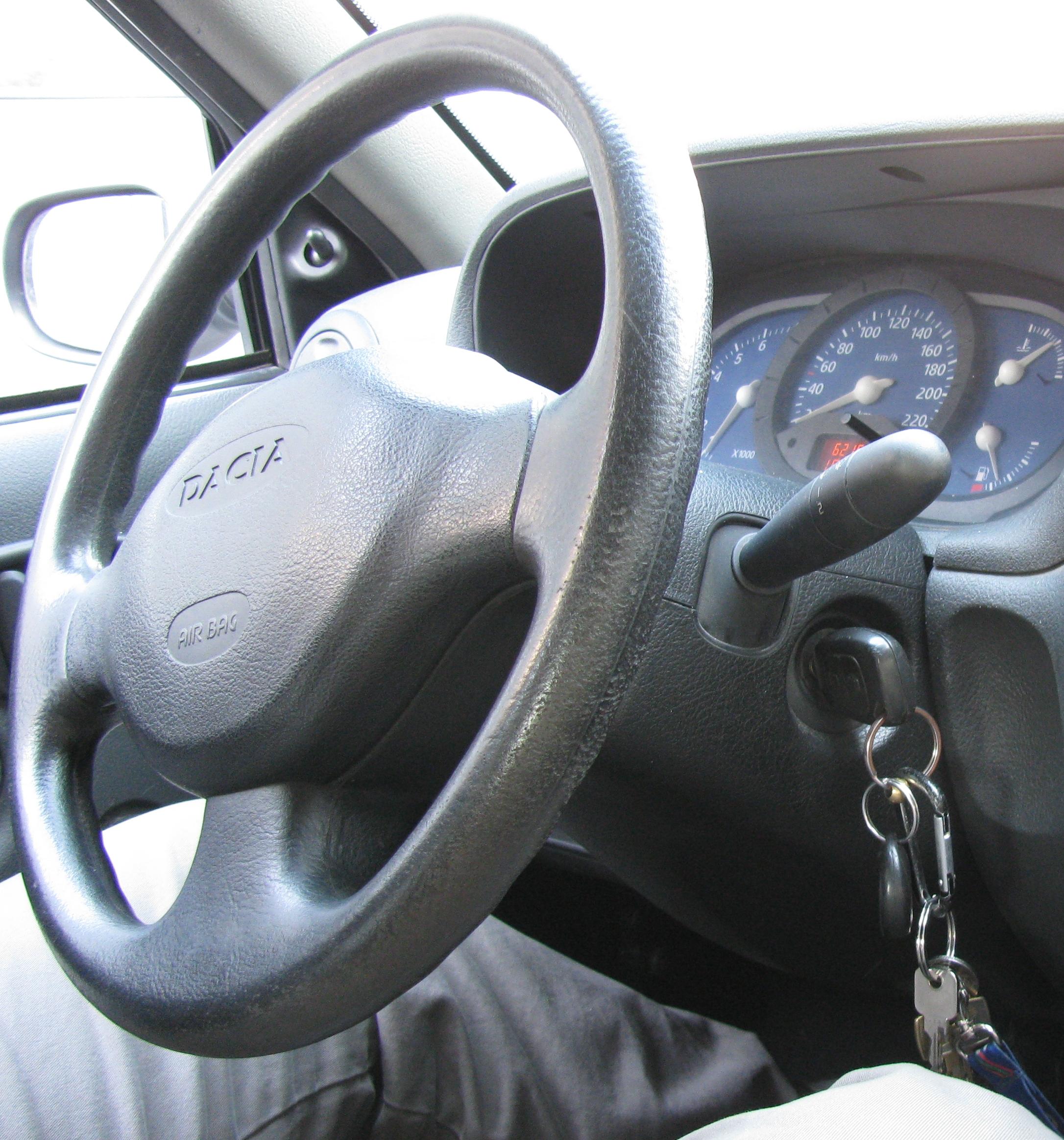 Car keys locked in ignition